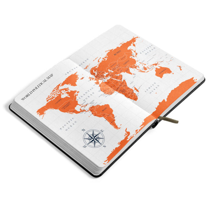 JetBook Agenda Preview Maps gold